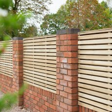 4ft High (1200mm) Forest Contemporary Double-Sided Slatted Fence Panel - Pressure Treated