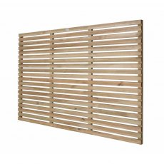 4ft High Forest Single Slatted Fence Panel  - Pressure Treated - isolated angled view