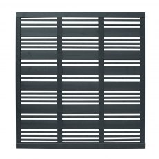 6ft High Forest Contemporary Mixed Slatted Fence Panel - Anthracite Grey - Pressure Treated -