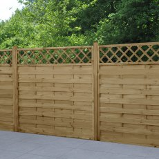 6ft High (1800mm) Forest Europa Windermere Fence Panels - Pressure Treated