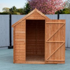 7 x 5 (2.05m x 1.62m) Shire Value Overlap Shed - door open