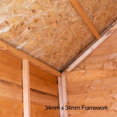 7 x 5 (2.05m x 1.62m) Shire Value Overlap Shed - framwork and roof