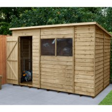 10 x 6 (3.11m x 2.04m) Forest Overlap Pent Shed - Pressure Treated
