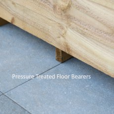 10 x 6 Forest Overlap Pent Shed - Pressure Treated - Pressure Treated Floor Bearers