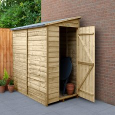 6 x 3 (1.83m x 1.09m) Forest Overlap Lean-to Shed - Windowless - Pressure Treated