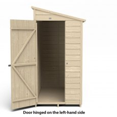 6x3 Forest Overlap Windowless Lean-to Shed - Pressure Treated - isolated, door hinged on the left