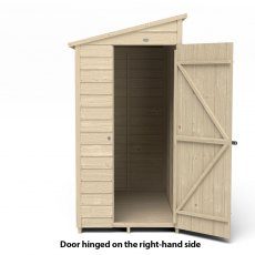 6x3 Forest Overlap Windowless Lean-to Shed - Pressure Treated - isolated, door hinged on the right