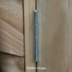 6x3 Forest Overlap Windowless Lean-to Shed - Pressure Treated - hidden door hinges