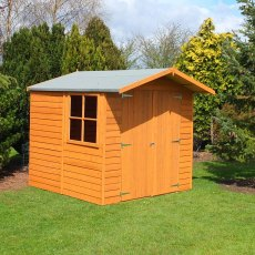 7 x 7 Shire Overlap Shed - insitu with window located on the left hand side