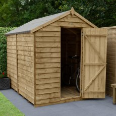8 x 6 (2.43m x 1.99m) Forest Overlap Shed - Windowless - Pressure Treated