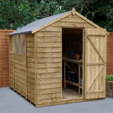 8 x 6 (2.43m x 1.99m) Forest Overlap Shed - Pressure Treated