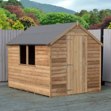 8 x 6 (2.44m x 1.86m) Shire Value Overlap Shed - Pressure Treated