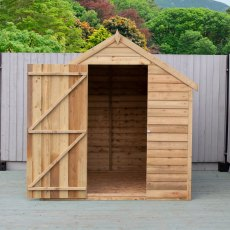 8 x 6 Shire Value Overlap Shed - Pressure Treated - Door Open