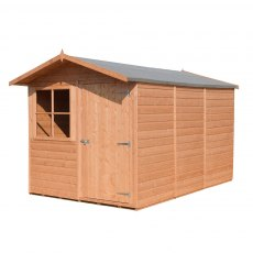 10x7 Shire Tongue and Groove Shed - isolated with showing right hand side elevation
