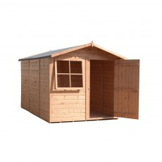 10x7 Shire Tongue and Groove Shed - front on door open