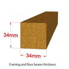 10x7 Shire Tongue and Groove Shed - framing and bearer dimensions