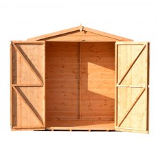 4x6 Shire Lewis Professional Shed - front elevation with both doors open