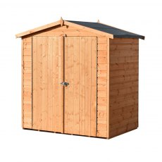 4x6 Shire Lewis Professional Shed - angled elevation from the right hand side with doors closed