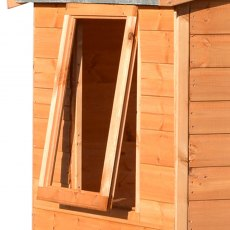 4x6 Shire Lewis Professional Shed - close of of the open window
