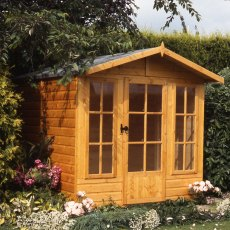 7 x 10 Shire Badminton Summerhouse - in natural door closed