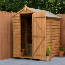 6 x 4 (1.89m x 1.34m) Forest Overlap Shed - Windowless