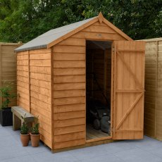 8 x 6 (2.43m x 1.99m) Forest Overlap Shed - Windowless