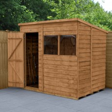7 x 5 (2.26m x 1.69m) Forest Overlap Pent Shed