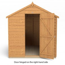 8x6 Forest Overlap Shed - isolated with door hinged on the right hand side