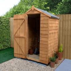 4 x 3 (1.32m x 0.92m) Forest Overlap Shed - Windowless