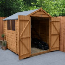8 x 6 (2.42m x 1.99m) Forest Overlap Shed with Double Door