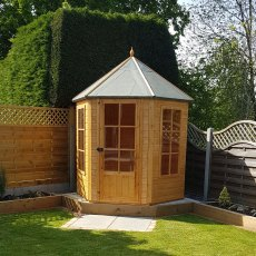 7 x 6 (2.16m x 1.87m) Shire Summerhouse Gazebo - Pressure Treated