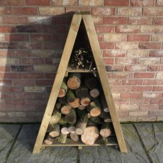 3 x 2 (0.82m x 0.42m) Shire Overlap Small Triangular Log Store - Pressure Treated