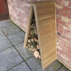 3 x 2 Shire Overlap Small Triangular Log Store - Pressure Treated - alternate side angle