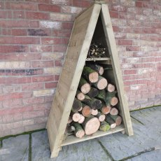 3 x 2 (0.82m x 0.42m) Shire Tongue & Groove Small Triangular Log Store - Pressure Treated