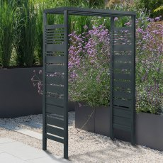 Forest Slatted Pergola Arch - Anthracite Grey