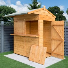 6 x 6 (1.90m x 1.84m) Rowlinson Garden Bar and Shed (includes roof overhang)