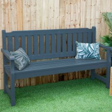 Forest Rosedene 5ft Bench - Anthracite Grey