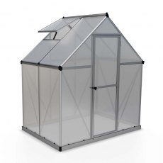 6 x 6 Palram Mythos Greenhouse in Silver - isolated view