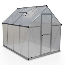6 x 8 Palram Mythos Greenhouse in Silver - isolated view