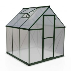 6 x 6 Palram Mythos Greenhouse in Green - isolated