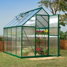6 x 8 Palram Mythos Greenhouse in Green
