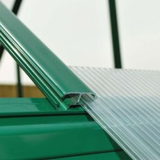 6 x 8 Palram Mythos Greenhouse in Green - easy slide polycarbonate panels