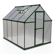 6 x 8 Palram Mythos Greenhouse in Green - isolated view