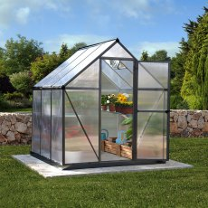 6 x 6 (1.85m x 1.85m) Palram Mythos Greenhouse - Grey