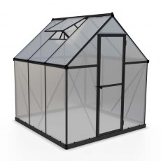 6 x 6 Palram Mythos Greenhouse in Grey - isolated view