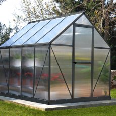 6 x 8 (1.85m x 2.46m) Palram Mythos Greenhouse - Grey