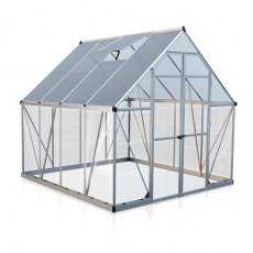 8 x 8 Palram Balance Greenhouse in Silver - isolated view