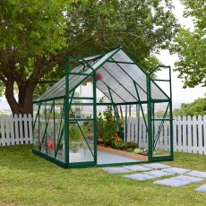 8 x 8 Palram Balance Greenhouse in Green