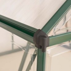 8 x 8 Palram Balance Greenhouse in Green - integral gutter
