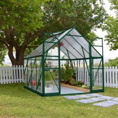 8 x 8 Palram Balance Greenhouse in Green - in situ